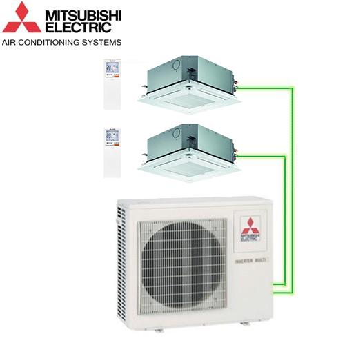 Aer Conditionat MULTISPLIT Caseta MITSUBISHI ELECTRIC 2x SLZ-KF25VA Inverter 2x9k BTU/h