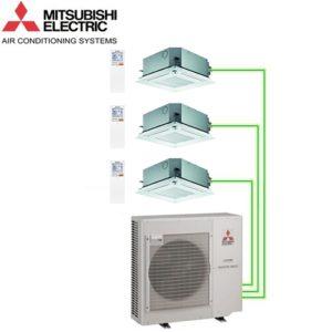 Aer Conditionat MULTISPLIT Caseta MITSUBISHI ELECTRIC 3x SLZ-KF25VA Inverter 3x9k BTU/h