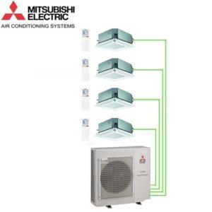 Aer Conditionat MULTISPLIT Caseta MITSUBISHI ELECTRIC 4X SLZ-KF25VA Inverter 4x9k BTU/h