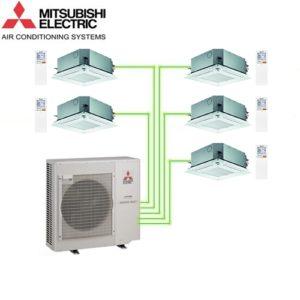 Aer Conditionat MULTISPLIT Caseta MITSUBISHI ELECTRIC  5x SLZ-KF25VA Inverter 5x9k BTU/h