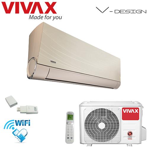Aer Conditionat VIVAX V-Design ACP-12CH35AEVI GOLD Wi-Fi Inverter 12000 BTU/h